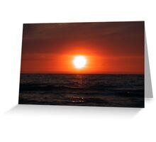 Sunset on Lake Michigan Greeting Card