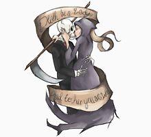"""Death be a Lady"" Grim Reaper Unisex T-Shirt"