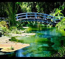 Naik Michel Photography - Hortensia House Garden Bridge 001 by Naik Michel