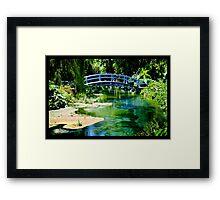 Naik Michel Photography - Hortensia House Garden Bridge 001 Framed Print