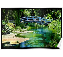 Naik Michel Photography - Hortensia House Garden Bridge 001 Poster