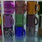 Stack of Colorful Mugs by MaeBelle