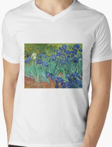 Vincent Van Gogh irisis Mens V-Neck T-Shirt