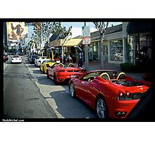 Beverly Hills Supercars Photographic Print