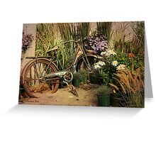 An Old Bicycle ~ Move It or Use It? Greeting Card