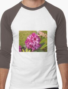 Beautiful Pink Rhodo Blossom Men's Baseball ¾ T-Shirt