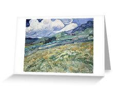 Vincent Van Gogh landscapes from Saint-Remy Greeting Card