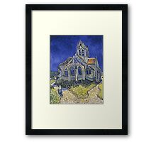 Vincent Van Gogh church at Auvers Framed Print