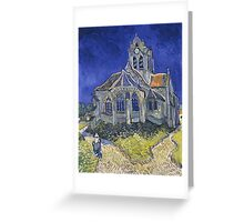 Vincent Van Gogh church at Auvers Greeting Card