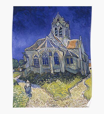 Vincent Van Gogh church at Auvers Poster
