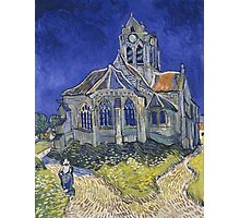 Vincent Van Gogh church at Auvers Photographic Print
