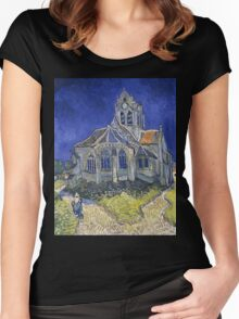 Vincent Van Gogh church at Auvers Women's Fitted Scoop T-Shirt