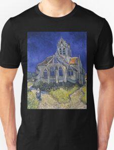Vincent Van Gogh church at Auvers Unisex T-Shirt