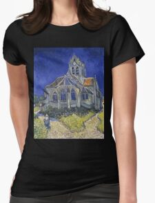 Vincent Van Gogh church at Auvers Womens Fitted T-Shirt