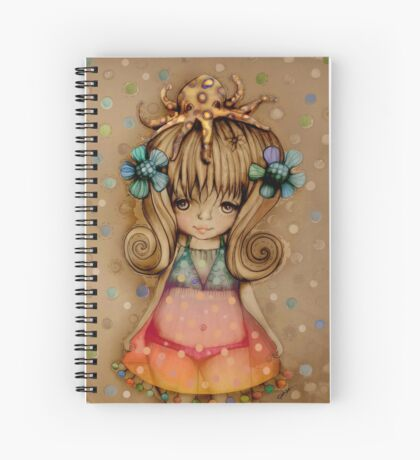 The Girl and the Octopus Spiral Notebook