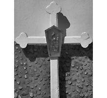 Black and White Cross Photographic Print