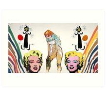 Louis, Miro, Warhol, Toulouse-Lautrec Art Print