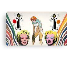 Louis, Miro, Warhol, Toulouse-Lautrec Canvas Print