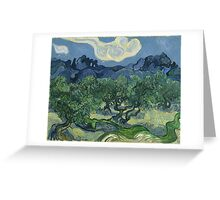 Vincent Van Gogh the olive trees Greeting Card