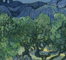 Vincent Van Gogh the olive trees Sticker