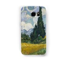 Vincent Van Gogh wheat field with cypresses Samsung Galaxy Case/Skin