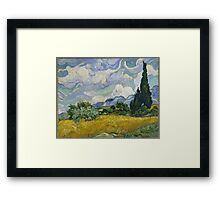 Vincent Van Gogh wheat field with cypresses Framed Print