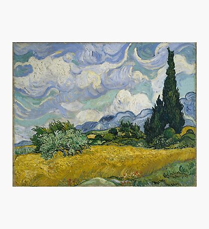 Vincent Van Gogh wheat field with cypresses Photographic Print
