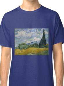 Vincent Van Gogh wheat field with cypresses Classic T-Shirt