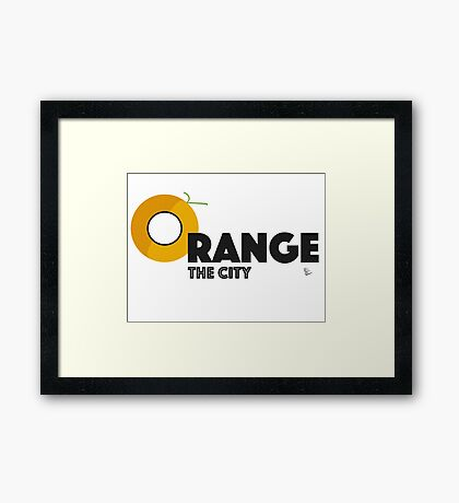 Paxton Rome - Orange, The City Framed Print