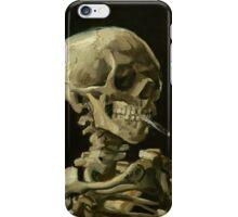 Vincent Van Gogh smoking skeleton iPhone Case/Skin