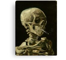 Vincent Van Gogh smoking skeleton Canvas Print