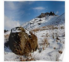 The Wainstones in Winter Poster