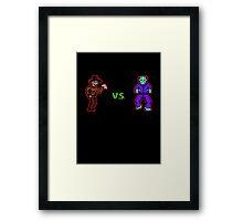 Freddy vs. Jason 8-Bit Framed Print