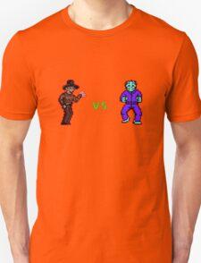 Freddy vs. Jason 8-Bit Unisex T-Shirt