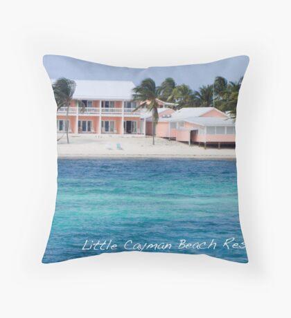 Caribbean Blues & Pinks Throw Pillow