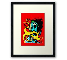 The peculiar blue dude  Framed Print