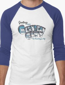 Greetings from Cerulean City Men's Baseball ¾ T-Shirt