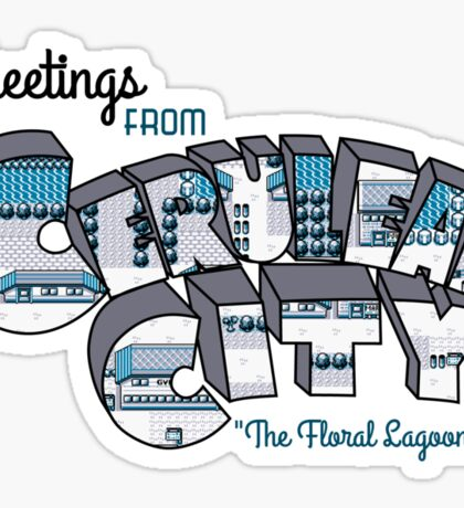 Greetings from Cerulean City Sticker