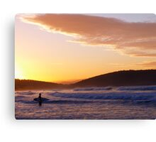 Looking for the perfect wave Canvas Print