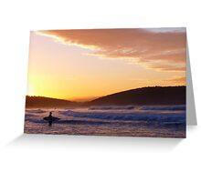 Looking for the perfect wave Greeting Card