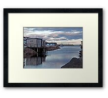 Petty Harbour Blue Framed Print