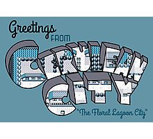 Greetings from Cerulean City Photographic Print