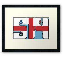 514 - Montreal Flag Framed Print