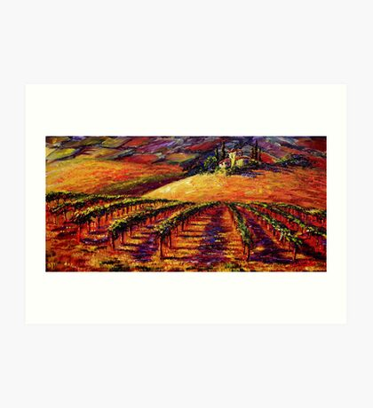 Tuscan Wine Country Art Print