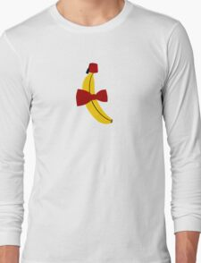 Bananas, Bowties, and fezes. Long Sleeve T-Shirt