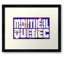 Montreal - 514 Framed Print