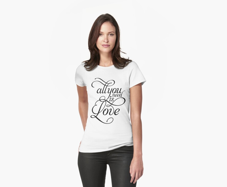 ALL YOU NEED IS LOVE Beatles inspired T by TheLoveShop
