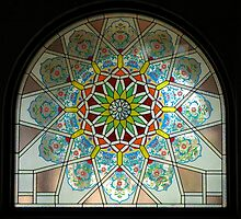 Stained glassed window in a Mosque by Java06