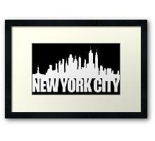 NYC Skyline - white Framed Print