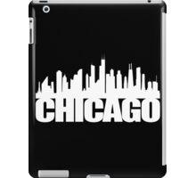 Chicago Skyline - white iPad Case/Skin